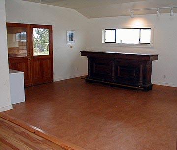 Antique bar in foyer